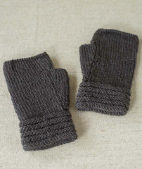 Welted Fingerless Gloves - Dovestone DK Version