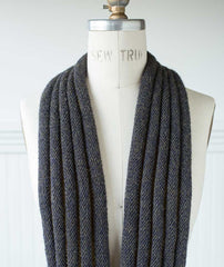 Welted Infinity Loop - Blue Sky Baby Alpaca Version