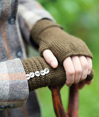 Welted Fingerless Gloves Pattern