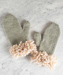 Woolly Loop Mittens Using Rowan Cocoon