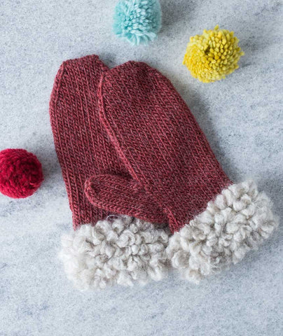 Woolly Loop Mittens - Cocoon & Yara Version