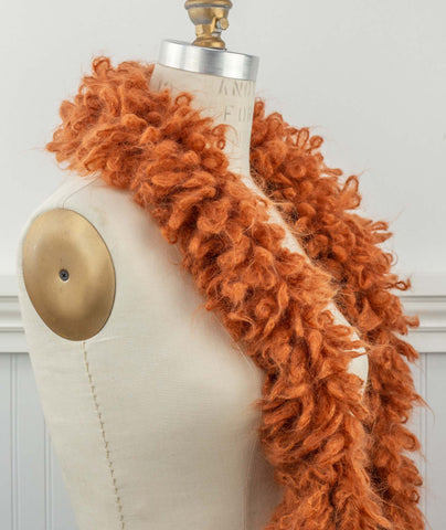 Woolly Loop Scarf Using Loopy Mango Mohair So Soft