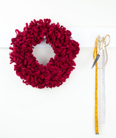 Woolly Wreath & Garland Using Fleece Artist Slubby Blue
