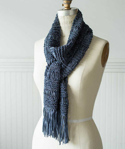 Wrapped Garter Stitch Scarf - Skinny Jeans Version