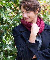 Walking Rib Cowl - Felted Tweed Aran Version