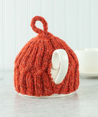 X x X Anniversary Tea Cozy: 2-Cup Version Using Rowan Felted Tweed
