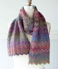 ZickZack Scarf Using Lang Mille Colori Baby Superwash