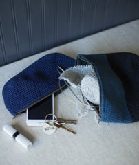 Oval Crocheted Pouches Using Rowan Handknit Cotton
