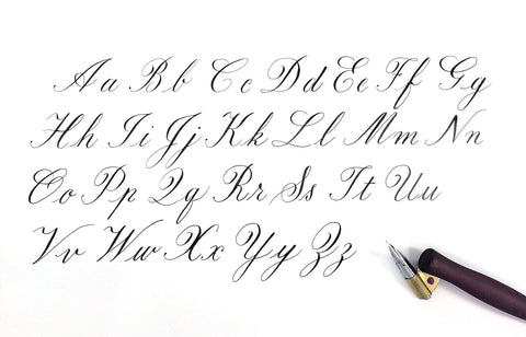 Copperplate alphabet a to z