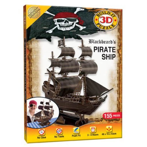 3D Blackbeard's Pirate Ship Puzzle