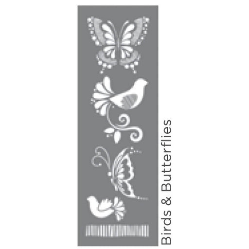 "Americana Decor Stencil Birds & Butterflies 6""x18"""