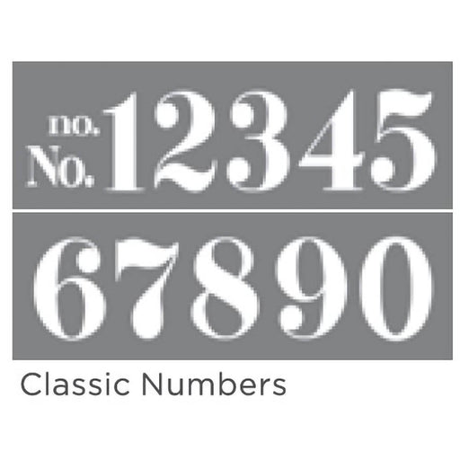 "Americana Decor Stencil Classic Numbers 6""x18"" 2-Part"