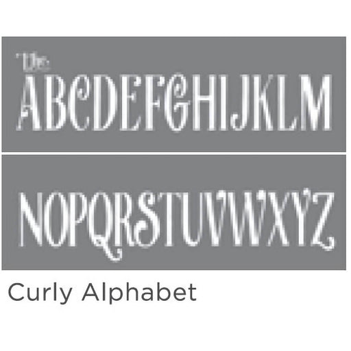 "Americana Decor Stencil Curly Alphabet 6""x18"" 2-Part"