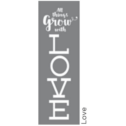 "Americana Decor Stencil Love 6""x18"""