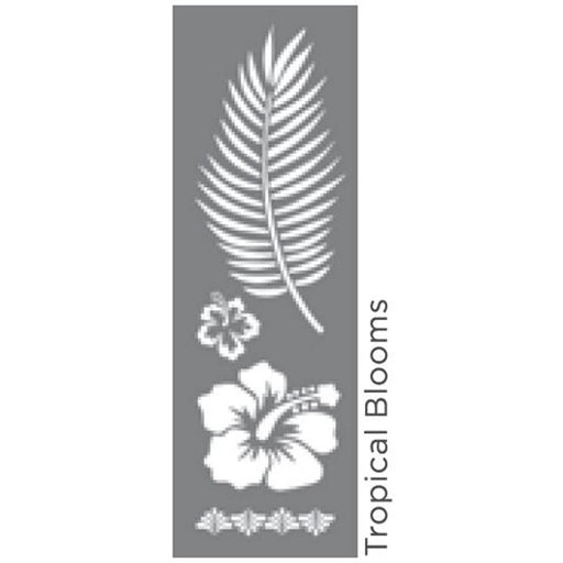 "Americana Decor Stencil Tropical Blooms 6""x18"""