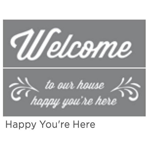 "Americana Decor Stencil Happy You're Here 6""x18"" 2-Pt"