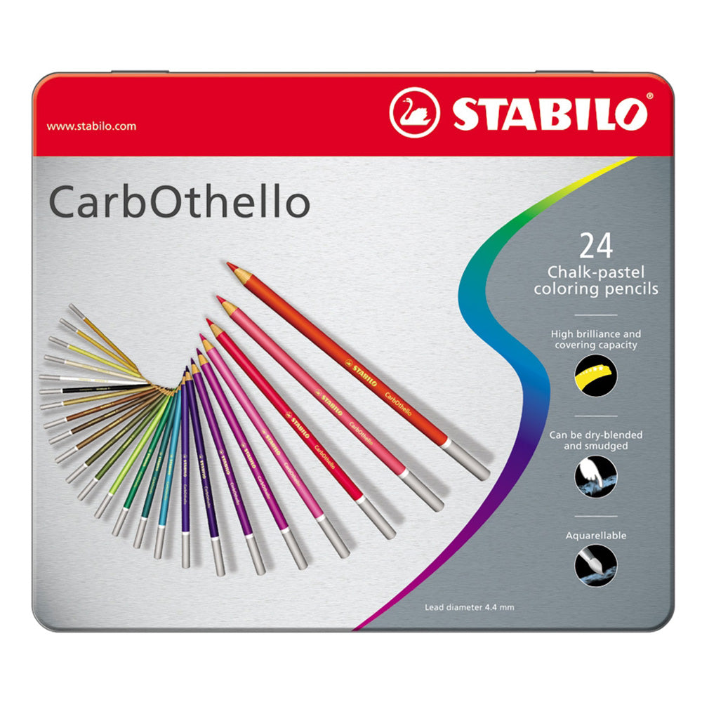 Carbothello Pastel Pencils - Tin of 24