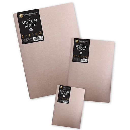 Soft Cover Sketch Book 20 Sheets Cream Paper pack x 2