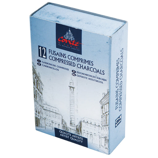Conte Compressed Charcoal - 12 Assorted