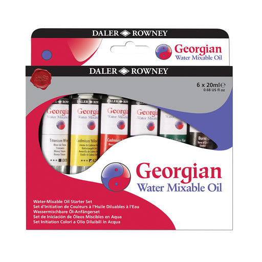Daler Rowney Georgian Water Mix Oil Starter Set 6 x 20ml