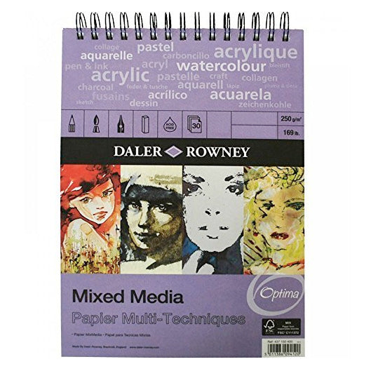 Daler Rowney Mixed Media Spiral 250gsm