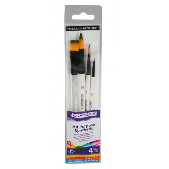 Daler Rowney 4 Brush Synthetic Watercolour Graduate Wallet