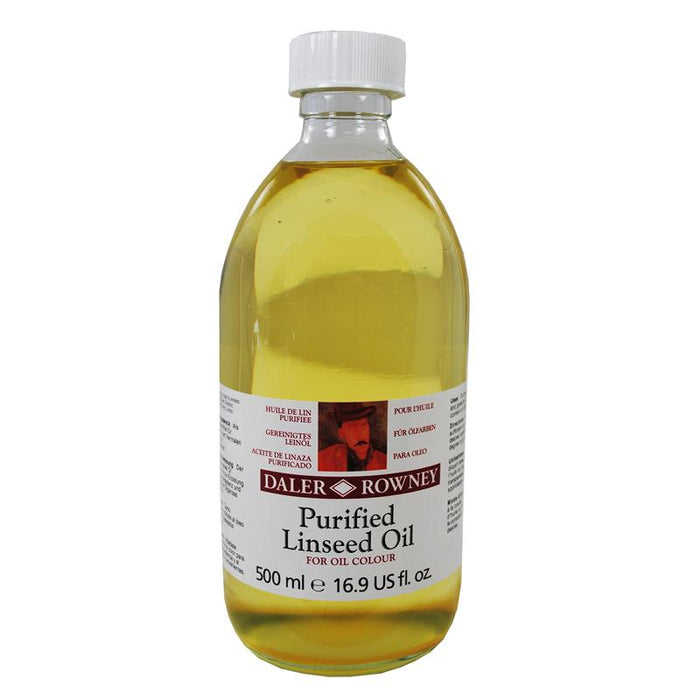Daler Rowney Purified Linseed Oil - 75 & 500ml