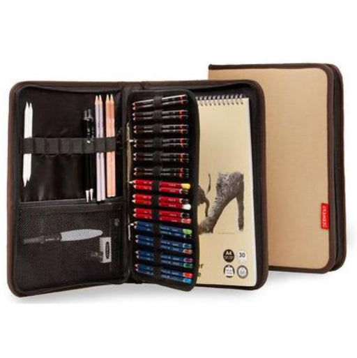 Derwent Canvas Carry-All A4 Folio Tan cover