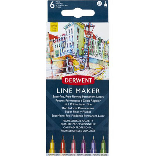 Derwent Graphik Line Maker wallet x 6 Colour