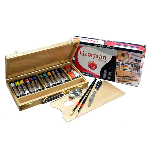 Daler Rowney Georgian Oil Wooden Box Set