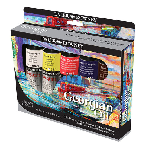 Daler Rowney Georgian Oil Mixing Set 5 x 75ml