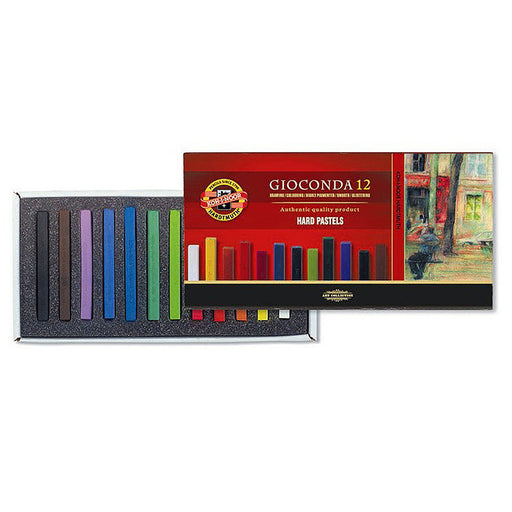 Koh-I-Noor Gioconda hard Wax/Chalk Pastels Set Of 12