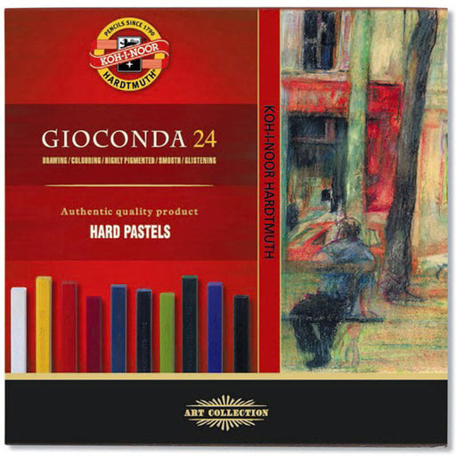 Koh-I-Noor Gioconda 24 hard Wax/Chalk Pastels Set Of 24
