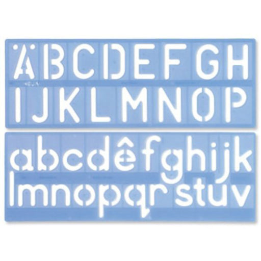 Lettering Stencil 50mm Helix - Standard Typeface