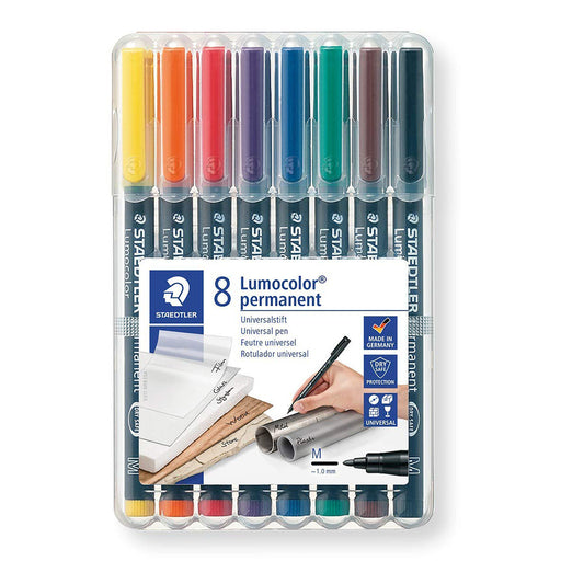 Lumocolor Wallet Of 8 Medium/Permanent Pen