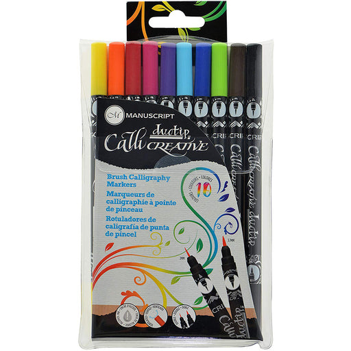 Callicreative Permanent Brush Duotip Pen set x 10