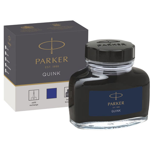 Parker Quink Ink Blue Permanent 57ml Bottle