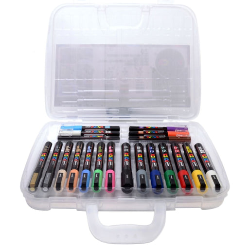 Posca acrylic art pen set x 20 in a plastic carry case