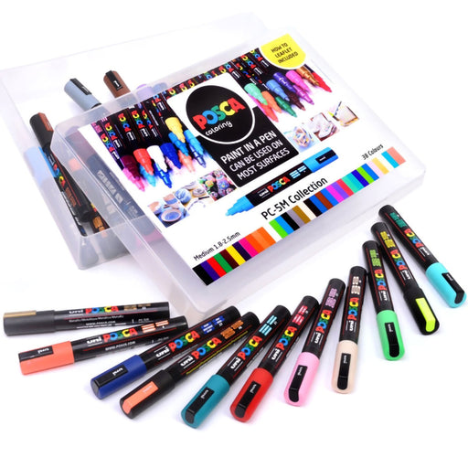 Posca PC-5M Collection Medium Bullet Tip x 39