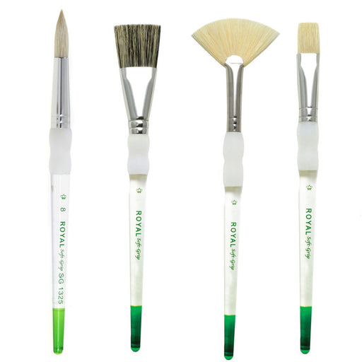 Royal Soft Grip Bristle brushes x 3