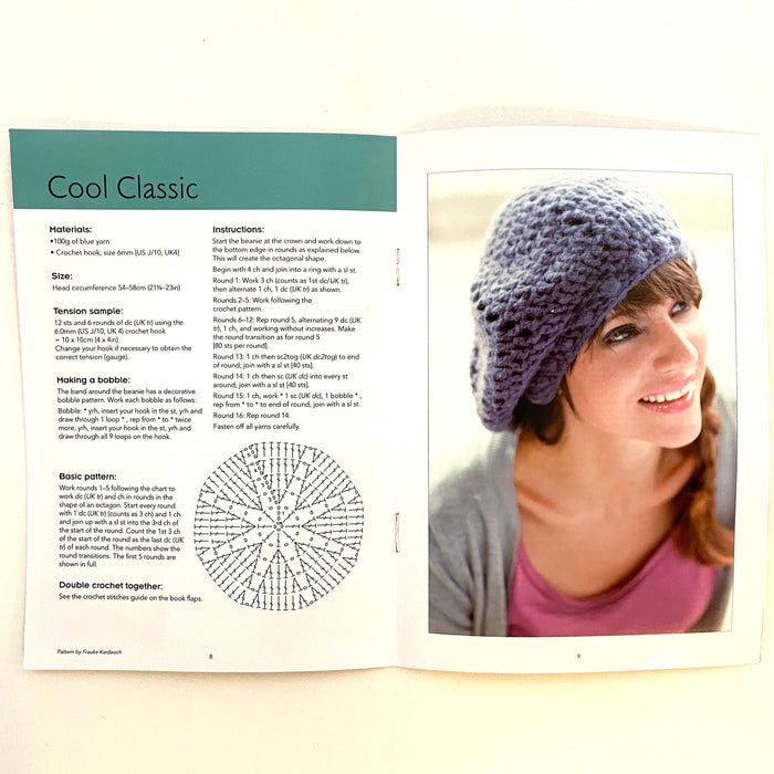 Crochet kit from Smart Fox tin booklet page on making a hat