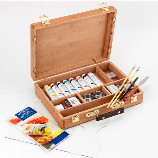 Winsor and Newton Oil Colour Bamboo Box