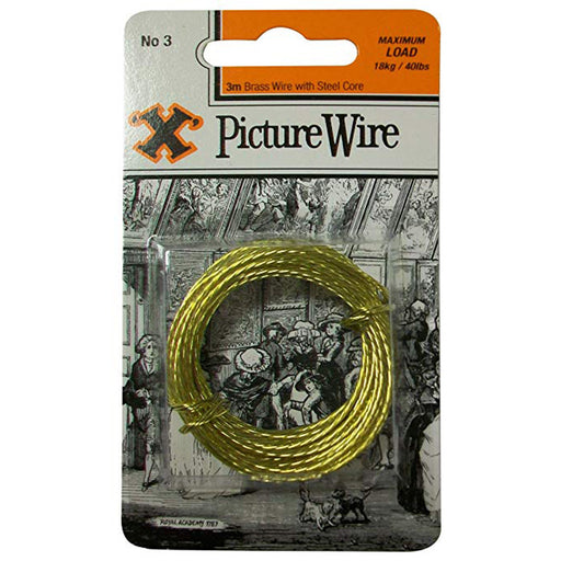 X-Hooks Picture Wire 3 Metres