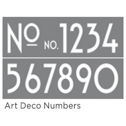 "Americana Decor Stencil Art Deco Numbers 6""x18"" 2-Part"
