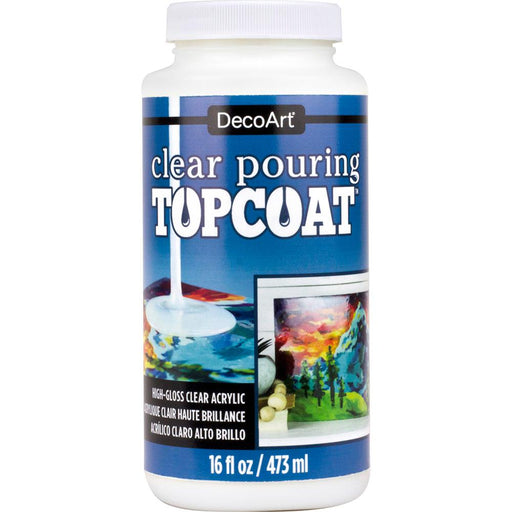Clear Pouring Topcoat 16oz Decoart