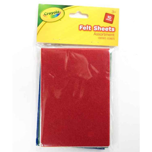 Crayola Felt Sheets Assorted 10 pieces