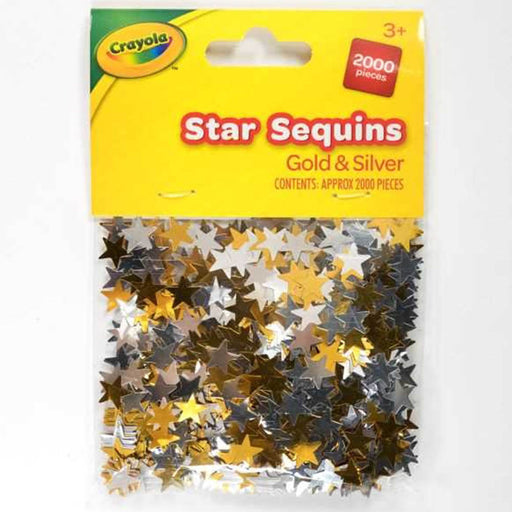 Crayola Gold and Silver Star Sequins 2000+