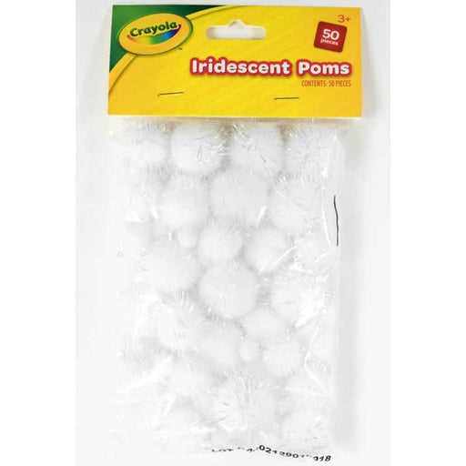 Crayola Iridescent Pom Poms 50 pieces