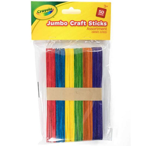 Crayola Jumbo Craft Sticks Assorted 50 pieces