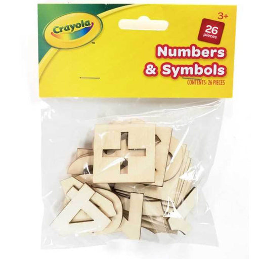 Crayola Wooden Number and Symbols 26 piececs